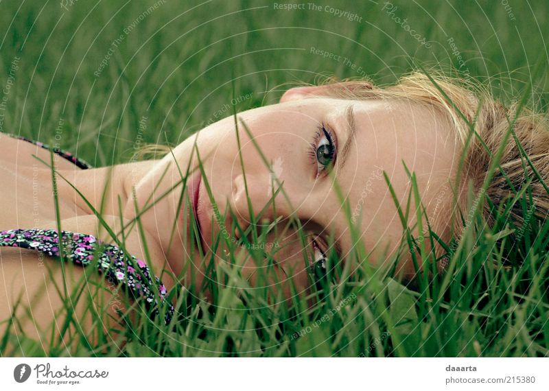 summer rest Human being Feminine Young woman Youth (Young adults) Woman Adults Face Eyes Nose Mouth Lips 1 18 - 30 years Garden Sleep Cool (slang) Bright
