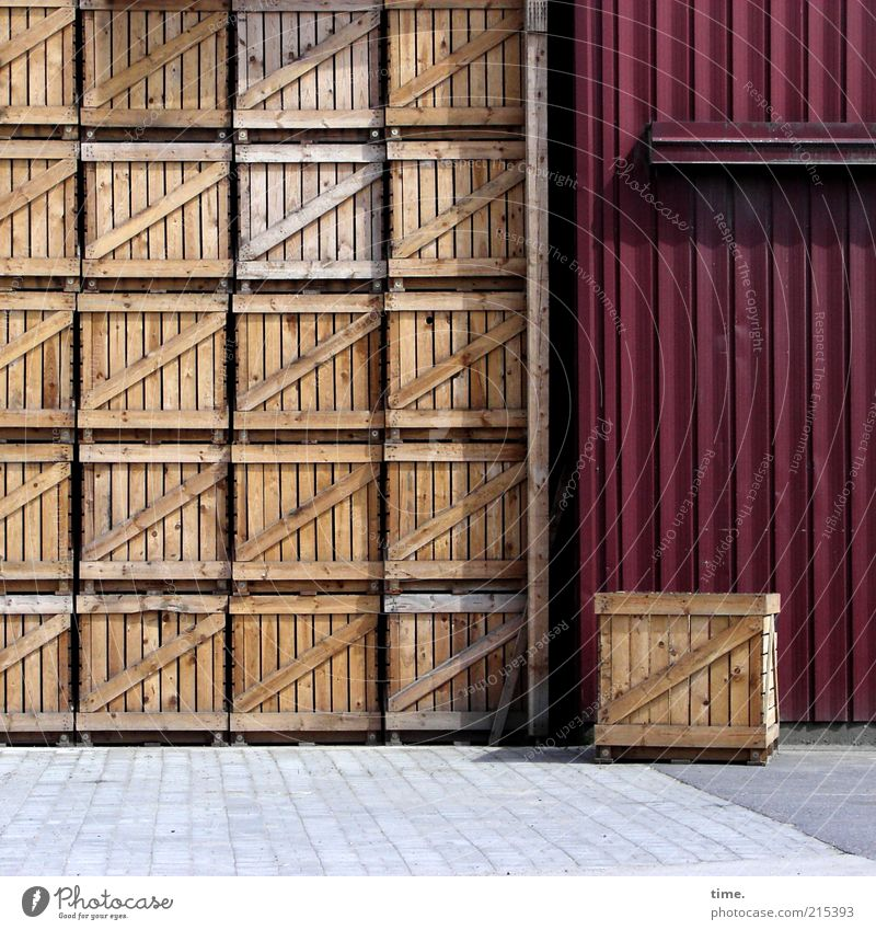 Red Brown Arrangement Gate Agriculture Farm Many Warehouse Beautiful weather Parking Crate Stack Vertical Paving stone Multicoloured