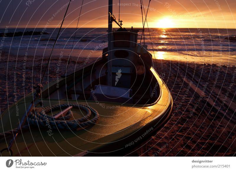 Beautiful Sun Ocean Summer Beach Vacation & Travel Calm Far-off places Dark Freedom Warmth Waves Rope Romance End Goodbye