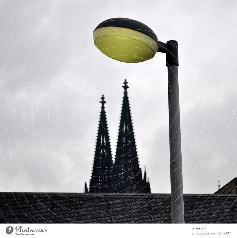 Dome with lighting Cologne Germany Europe Deserted House (Residential Structure) Church Manmade structures Building Architecture Roof Tourist Attraction