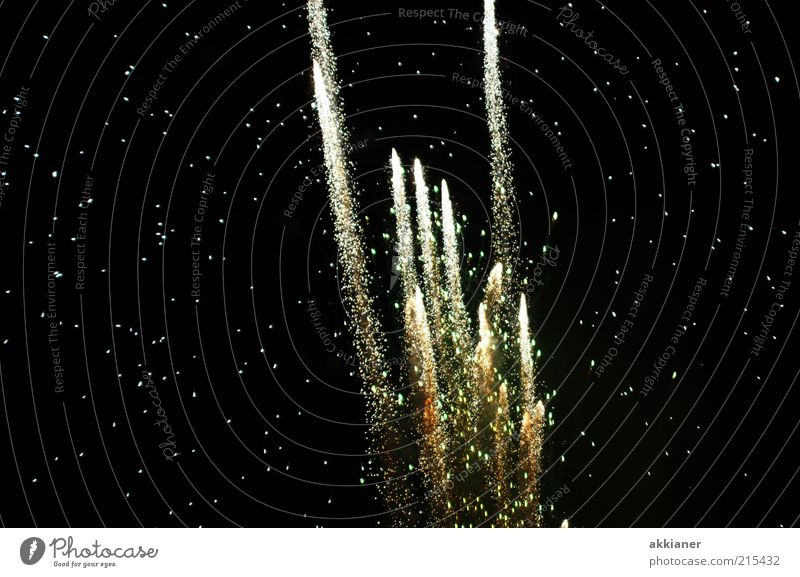 White Black Dark Stars Firecracker Event Go up Night life Shoot Starry sky Sky Starlit Canopy of stars Rocket tail