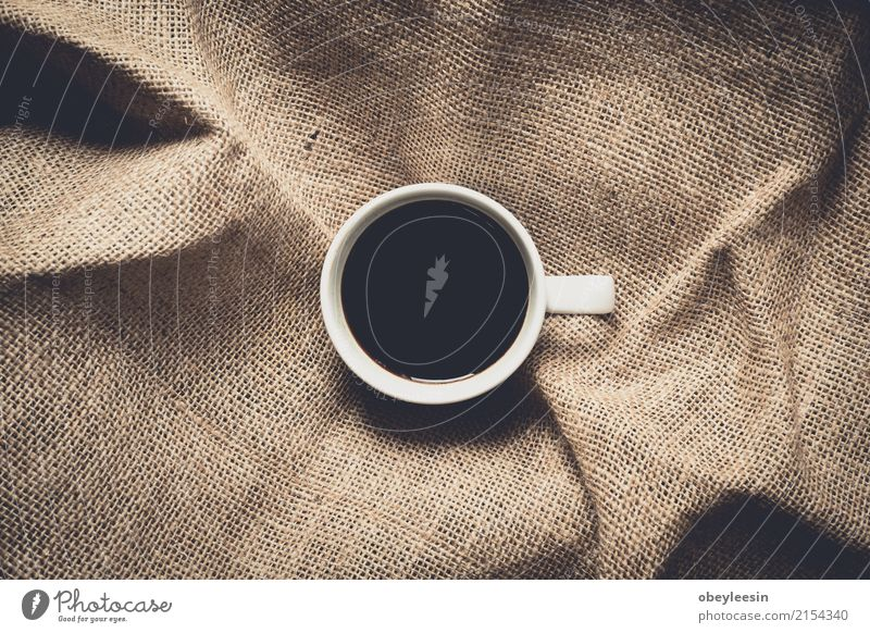 Cup of coffee for morning Colour White Dish Lanes & trails Gray Brown Above Design Bright Fresh Vantage point Clean Beverage Coffee Hot Breakfast