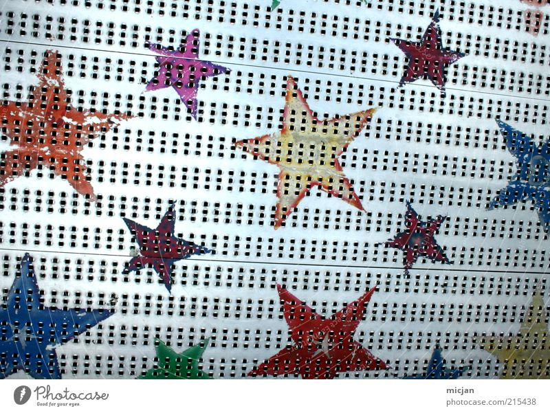 Green Blue Red Yellow Colour Gray Metal Stars Pink Gold Star (Symbol) Floor covering Steel Fairs & Carnivals Symbols and metaphors Hollow