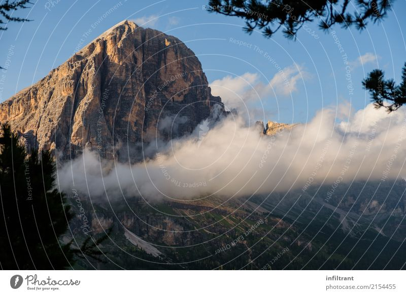 Dolomites - Tofana di Rozes with clouds Vacation & Travel Adventure Summer vacation Mountain Hiking Landscape Clouds Rock Alps Peak Esthetic Natural Beautiful