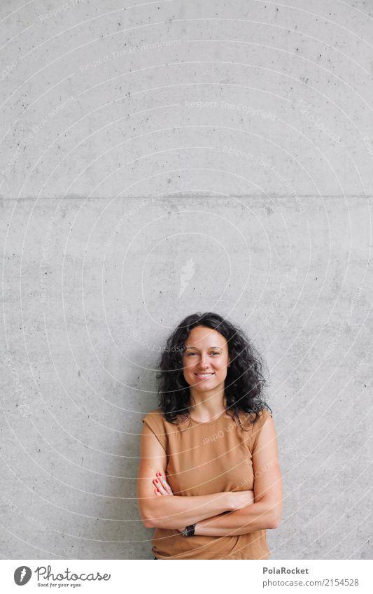 Woman Esthetic Power Profession Media Career Television Self-confident Radio (broadcasting) Interlock Concrete wall New Media