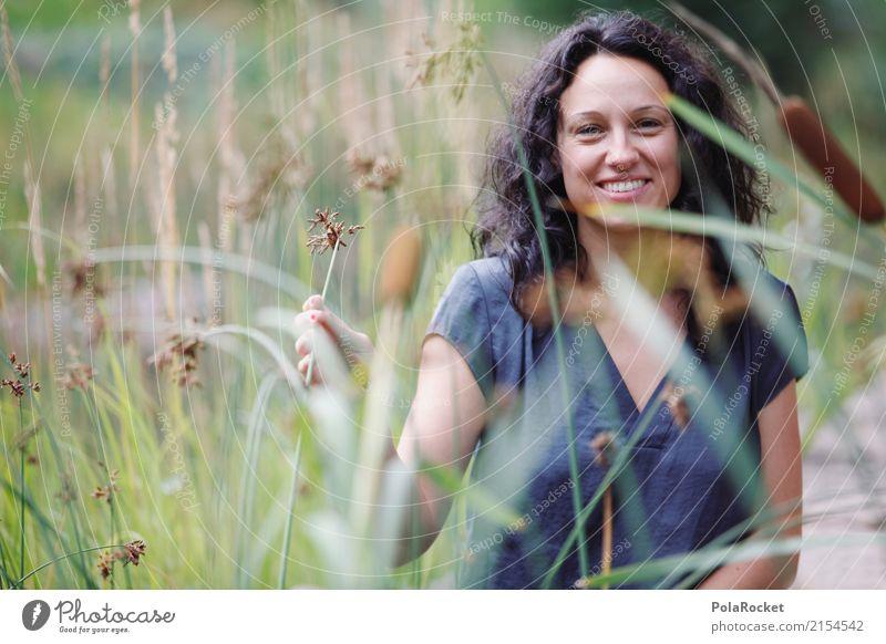 #A# Nature Art Esthetic Habitat Woman Exterior shot Joy Happy Laughter Smiling Portrait photograph Photo shoot Colour photo Multicoloured Detail Experimental