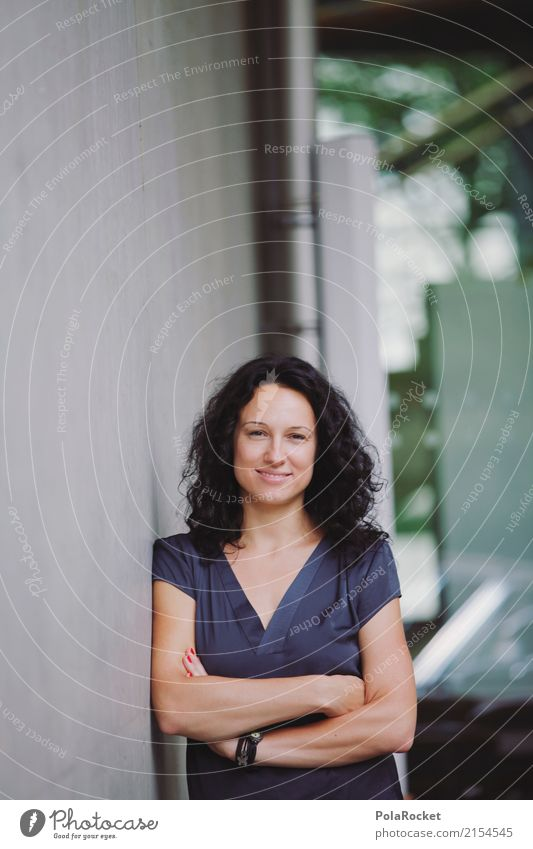 Woman Art Esthetic Glass Smiling Profession Doctor Career Self-confident Interlock