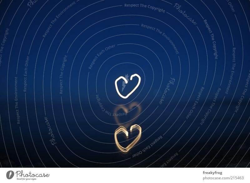 moon hearts Harmonious Ocean Nature Sky Night sky Heart Love Happy Positive Blue Emotions Trust Sympathy Infatuation Loyalty Romance Goodness Dream Hope