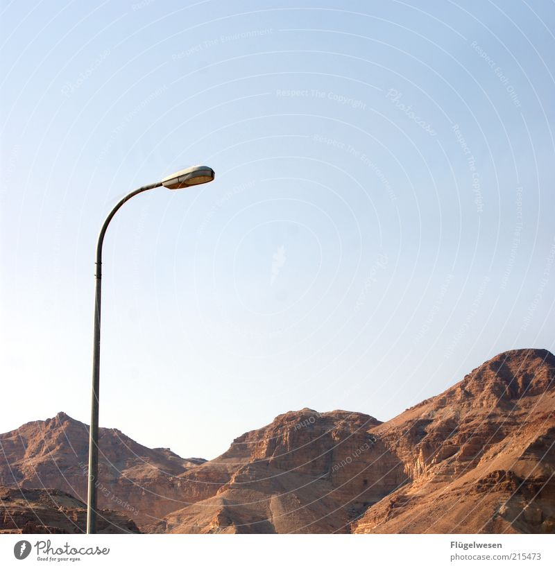 Nature Sky Summer Mountain Stone Rock Tall Travel photography Exceptional Peak Street lighting Blue sky Israel Negev