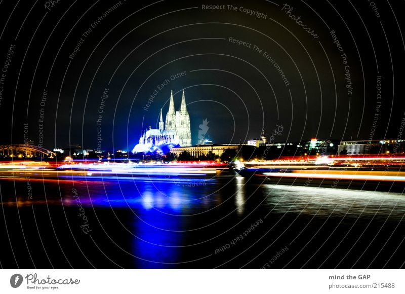 Cologne City Lights - Cologne Lights Event Germany North Rhine-Westphalia Europe Town Downtown Skyline Church Dome Bridge Manmade structures Building