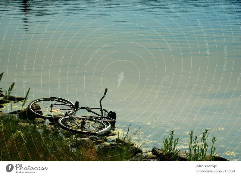 Water Ocean Blue Beach Calm Sadness Brown Bicycle Coast Gloomy Broken Change To fall Transience Decline Lose