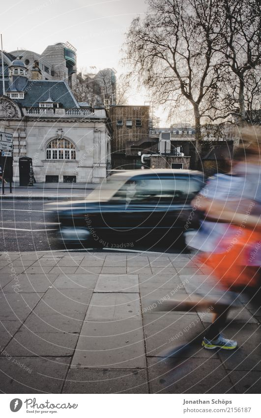 London Speed Town Capital city Downtown Overpopulated Driving Walking Jogging Movement Motion blur England Great Britain Running City Crash Car Taxi Mobility