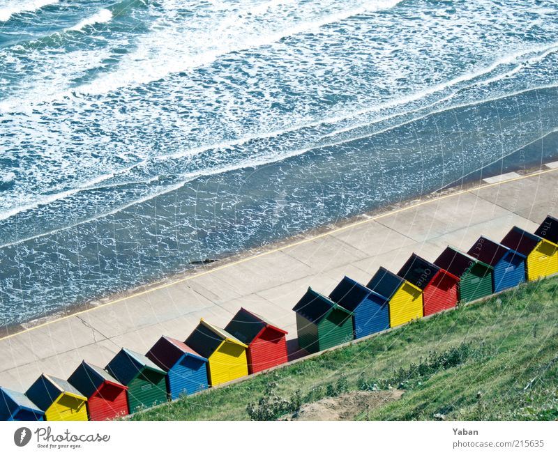 TRUE COLOURS Vacation & Travel Tourism Summer Summer vacation Beach Ocean Waves Beautiful weather Coast North Sea House (Residential Structure) Wood