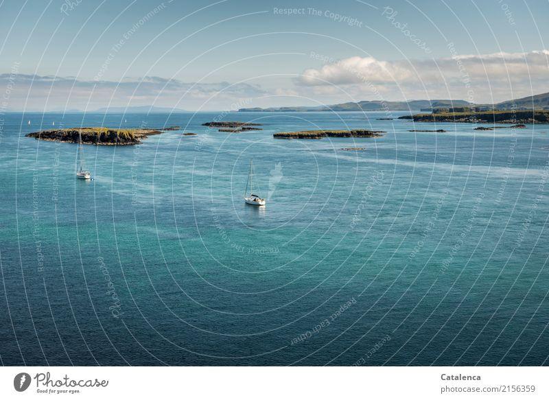 Sky Vacation & Travel Blue Summer White Landscape Ocean Clouds Environment Swimming & Bathing Brown Moody Horizon Glittering Island Joie de vivre (Vitality)
