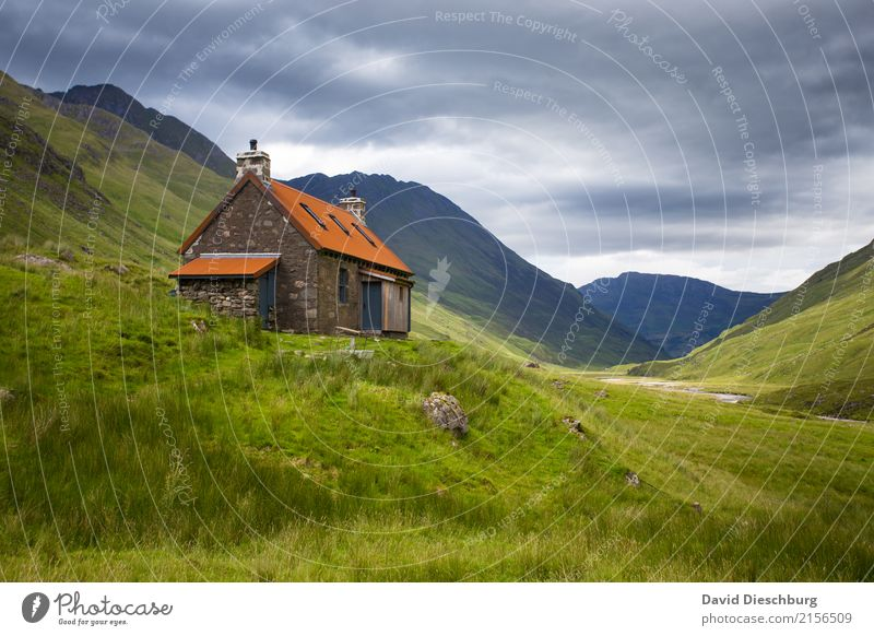 Sky Vacation & Travel Plant Summer Landscape Relaxation Loneliness House (Residential Structure) Clouds Calm Mountain Autumn Spring Meadow Grass Rock