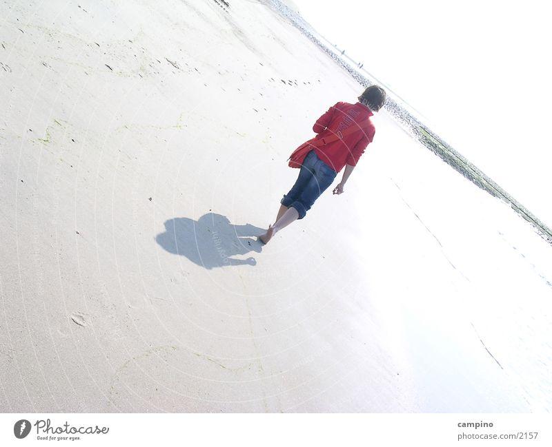 beach Norderney Beach Woman Sand Loneliness Shadow Island