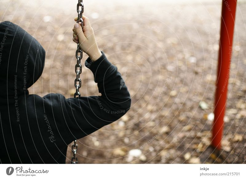Child Loneliness Boy (child) Autumn Emotions Playing Sadness Park Earth Perspective Leisure and hobbies Infancy Human being Boredom Swing