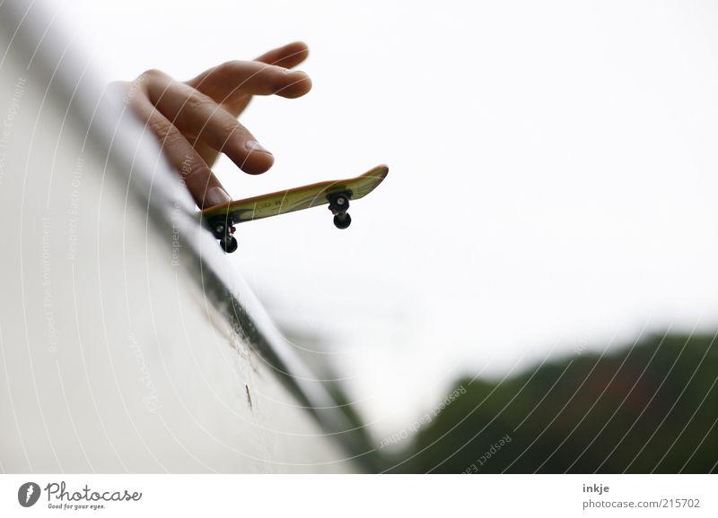 Halfpipe hero II Lifestyle Joy Leisure and hobbies Playing Skateboard Skateboarding Skater circuit fingerboard Hand Fingers Athletic Cool (slang) Hip & trendy