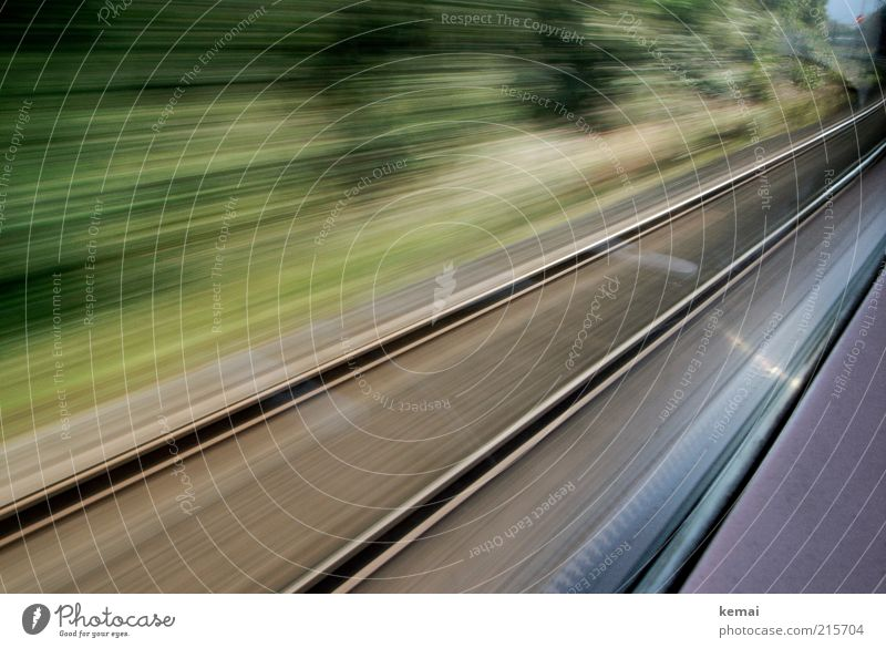 Vacation & Travel Movement Lanes & trails Trip Transport Railroad Speed Driving Logistics Railroad tracks Traffic infrastructure Mobility Passenger traffic Euphoria Means of transport Train travel