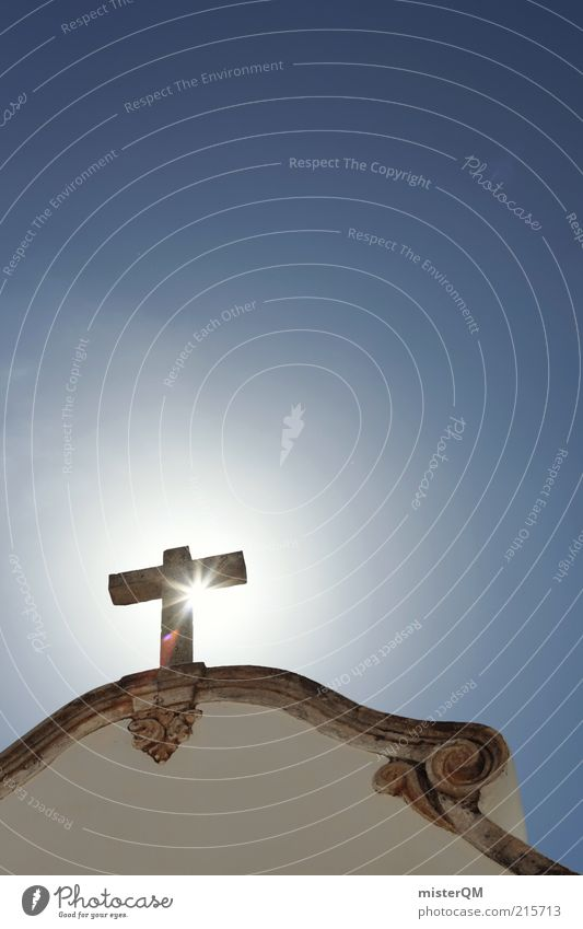 Calm Religion and faith Power Hope Might Future Church Roof Kitsch Uniqueness Christianity Christian cross Crucifix Past Historic Holy