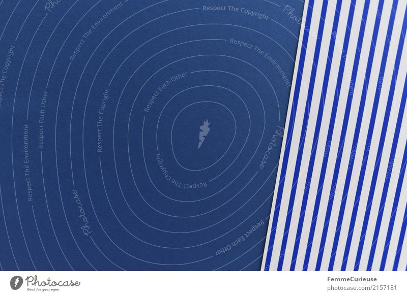 Blue White Design Paper Striped Cardboard Stationery Rectangle Blue-white
