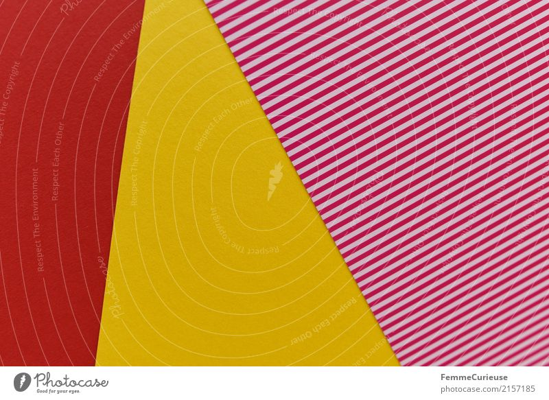 Red Yellow Creativity Paper Geometry Striped Cardboard Summery Stationery Craft materials Reddish white