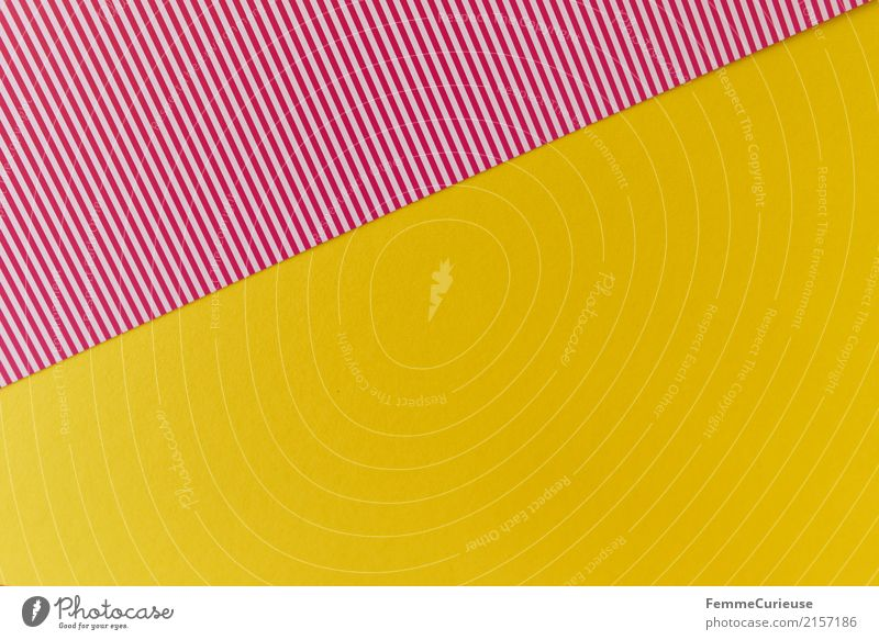 Sample (04) Stationery Paper Creativity Cardboard Striped Reddish white Yellow Summery Structures and shapes Geometry Design Craft materials Colour photo