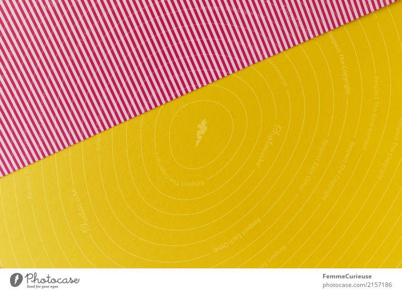 Yellow Design Creativity Paper Geometry Striped Cardboard Summery Stationery Craft materials Reddish white