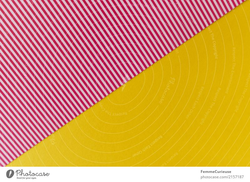 Sample (08) Stationery Paper Creativity Cardboard Striped Reddish white Yellow Triangle Design Structures and shapes Line Summery Multicoloured Craft materials