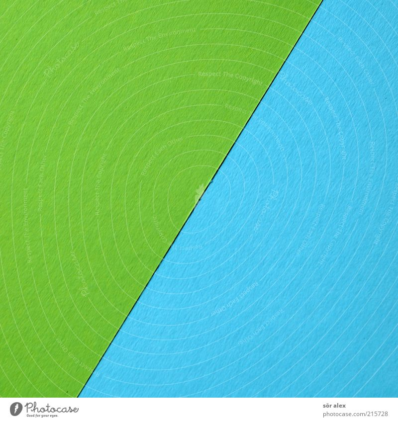 [green/blue] Cardboard Color chart ink carton Paper handicraft paper Blue Green Colour Handicraft Decoration Design Creativity Art Line broken line Print media