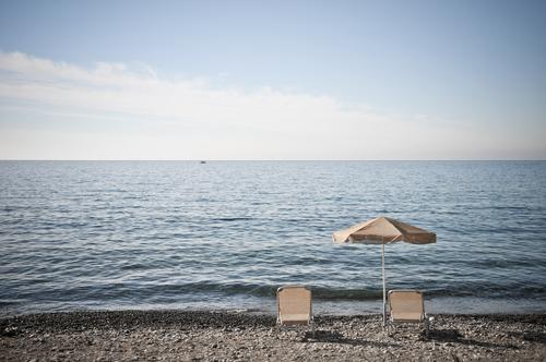 daily prospects Harmonious Relaxation Calm Vacation & Travel Tourism Freedom Summer Summer vacation Sunbathing Beach Ocean Waves Sunshade Deckchair Couch