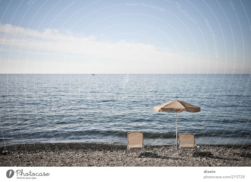 Sky Ocean Summer Beach Vacation & Travel Calm Clouds Relaxation Freedom Bright Coast Waves Horizon Tourism Couch Sunshade