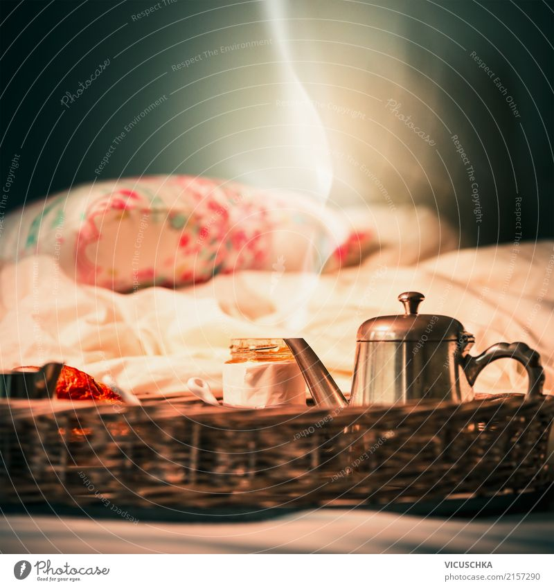 Weekend breakfast in bed Nutrition Breakfast Lifestyle Style Design Vacation & Travel Living or residing Bed Bedroom Soft Morning Food photograph Still Life