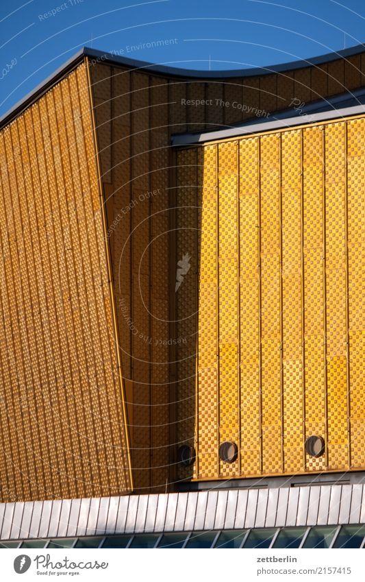Architecture Yellow Berlin Art Tourism Facade Gold Music Culture Event Concert Bauhaus Berlin Philharmonic Berlin culture forum Concert Hall