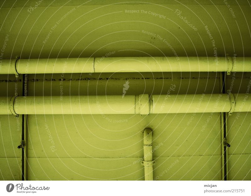 Grand Machine No. 33 Tube End Industrial plant Factory Building Wall (barrier) Wall (building) Facade Network Pipe Transmission lines Water Yellow Green