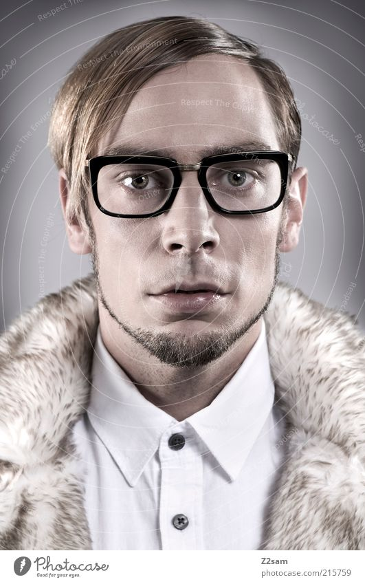 Human being Youth (Young adults) Face Style Hair and hairstyles Fashion Adults Masculine Design Elegant Crazy Esthetic Eyeglasses Clean Uniqueness
