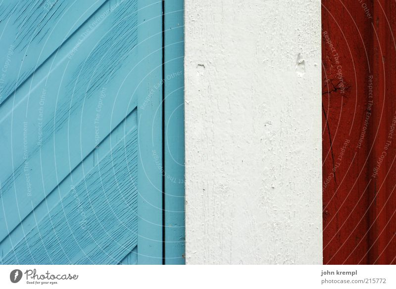 Beautiful White Blue Red Joy Wall (building) Happy Wood Wall (barrier) Building Bright Door Protection Living or residing Gate Friendliness