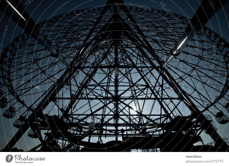 Ferris wheel Kasai Seaside Park Japan Tokyo Manmade structures Architecture Tourist Attraction Fear Horror Dangerous Subdued colour Experimental Deserted