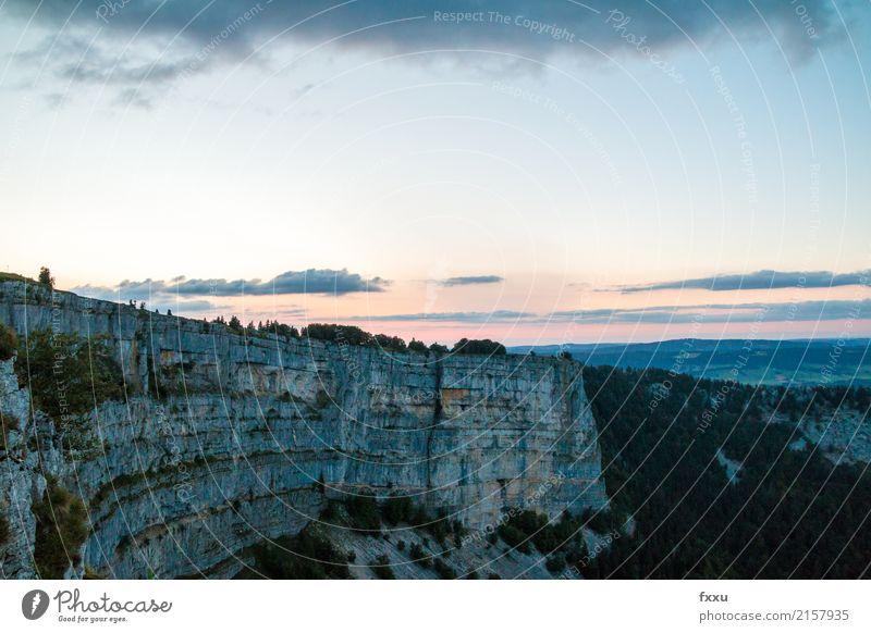 Creux Du Van Rock Creux du Van Switzerland Mountain Evening Twilight Gigantic Dusk Wall of rock