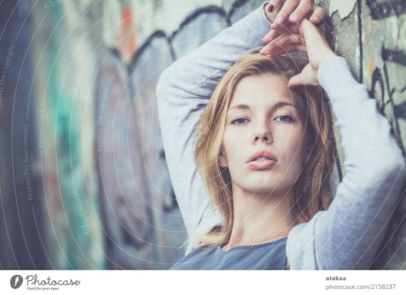 portrait of a beautiful young girl Human being Woman Nature Youth (Young adults) Summer Beautiful White Relaxation Joy Face Adults Street Lifestyle Emotions