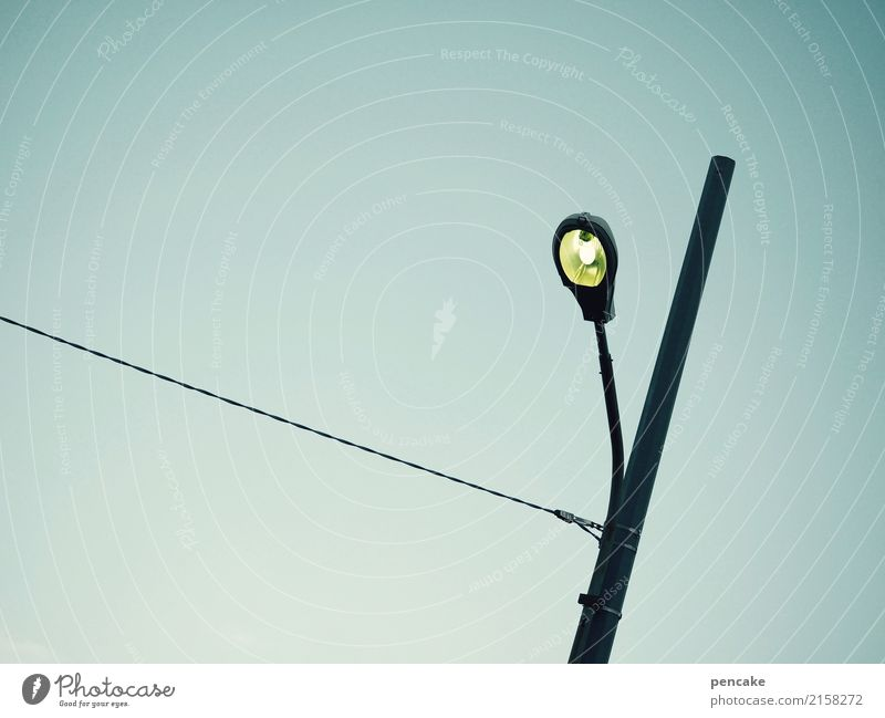 this is totally exciting here again! Elements Sky Cloudless sky Beautiful weather Old town Cold Gloomy Electricity Street lighting Tension Retro Pole