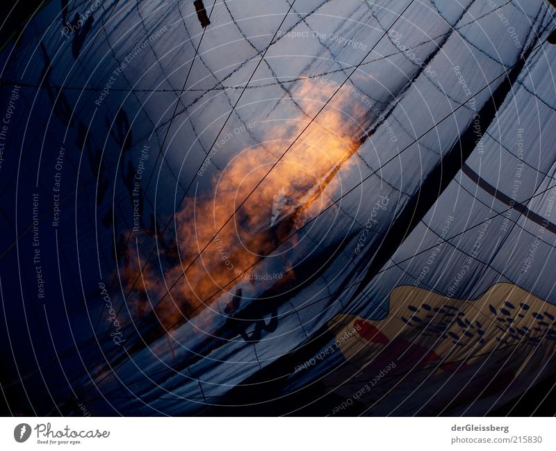 inflated 2 Target Fire Hot Hot Air Balloon String Calm Colour photo Exterior shot Day Deserted Fireglow Flame Warmth Section of image Abstract