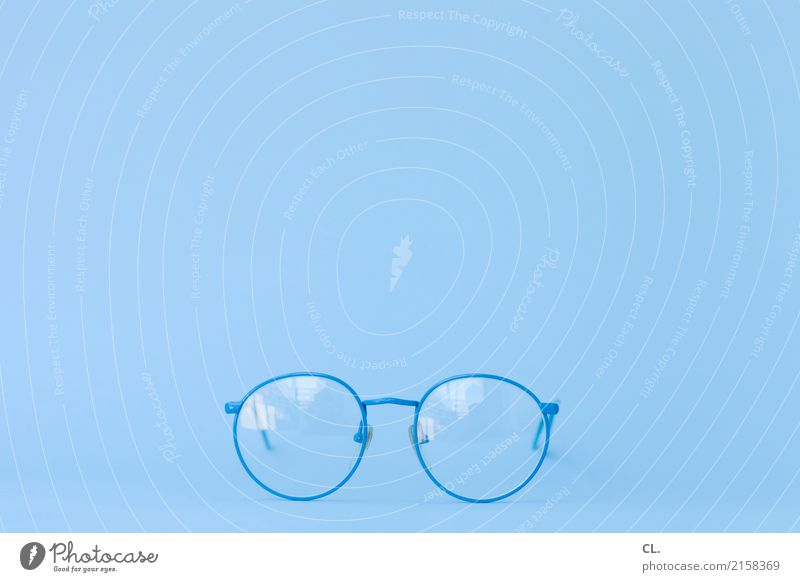 blue glasses Accessory Eyeglasses Observe Looking Esthetic Blue Design Health care Ease Curiosity Perspective Precision Person wearing glasses Optician