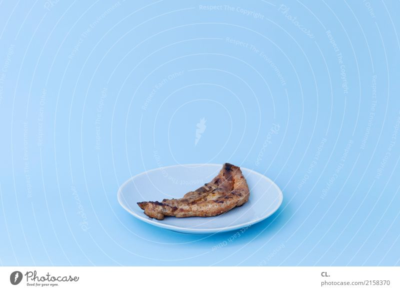 Eating Food Nutrition Esthetic To enjoy Simple Delicious Crockery Plate Meat Lunch Thrifty