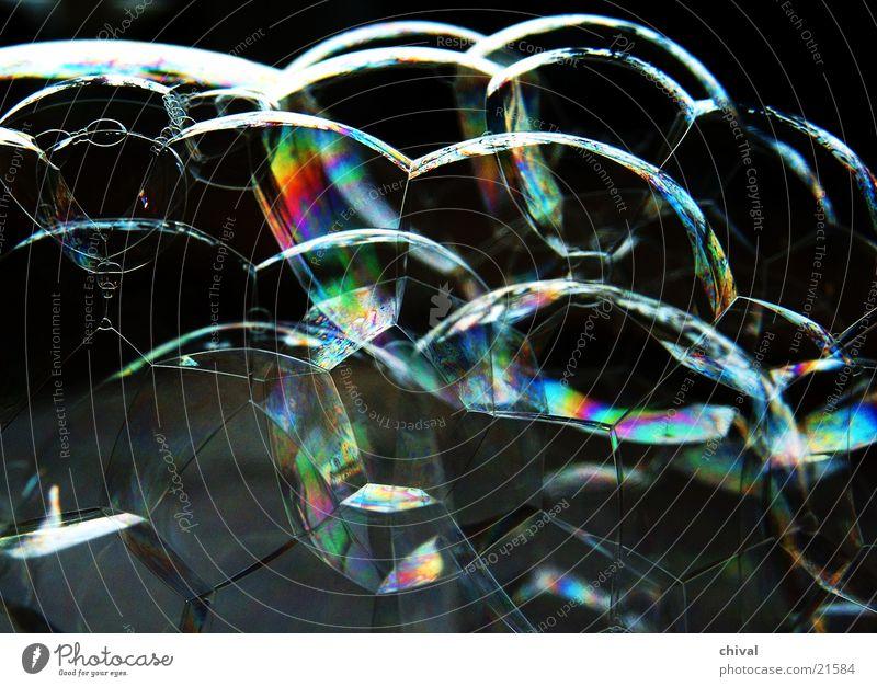 Bubbles 4 Soap bubble Light Rainbow Colour Reflection interference Prison cell Honey-comb