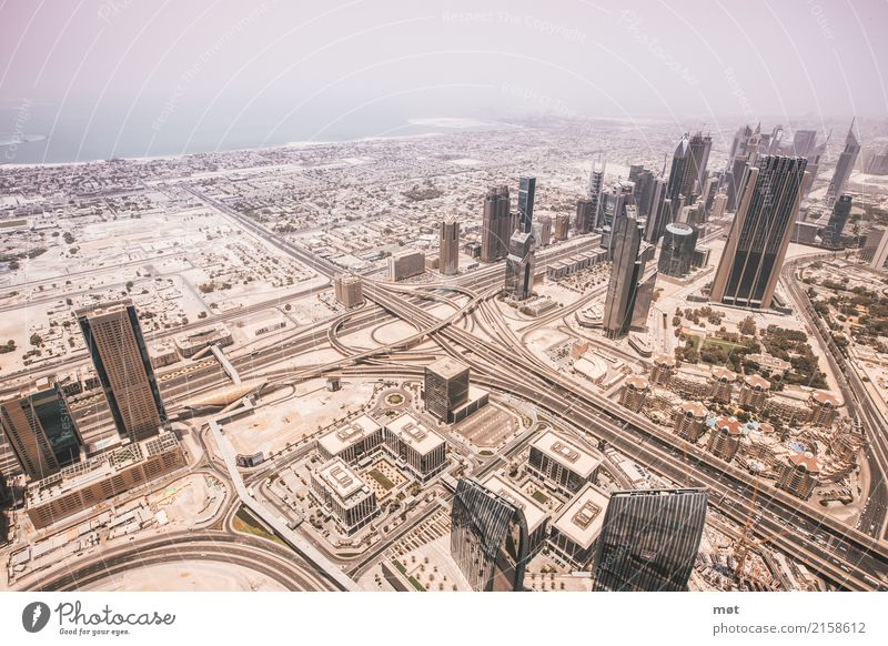 Dubai from above Summer Beautiful weather United Arab Emirates Asia Town Capital city Populated House (Residential Structure) High-rise Bank building
