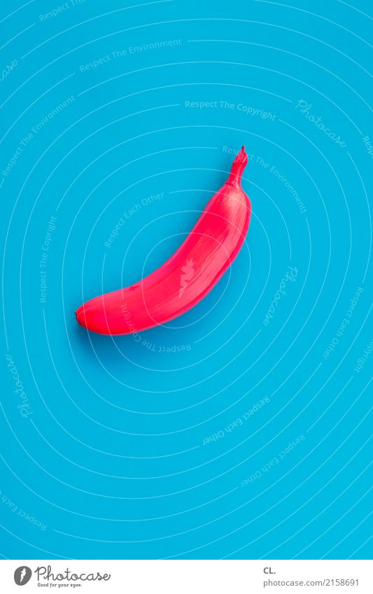 exotic Food Fruit Banana Nutrition Art Work of art Sign Esthetic Exceptional Exotic Uniqueness Blue Red Bizarre Design Colour Idea Innovative Inspiration
