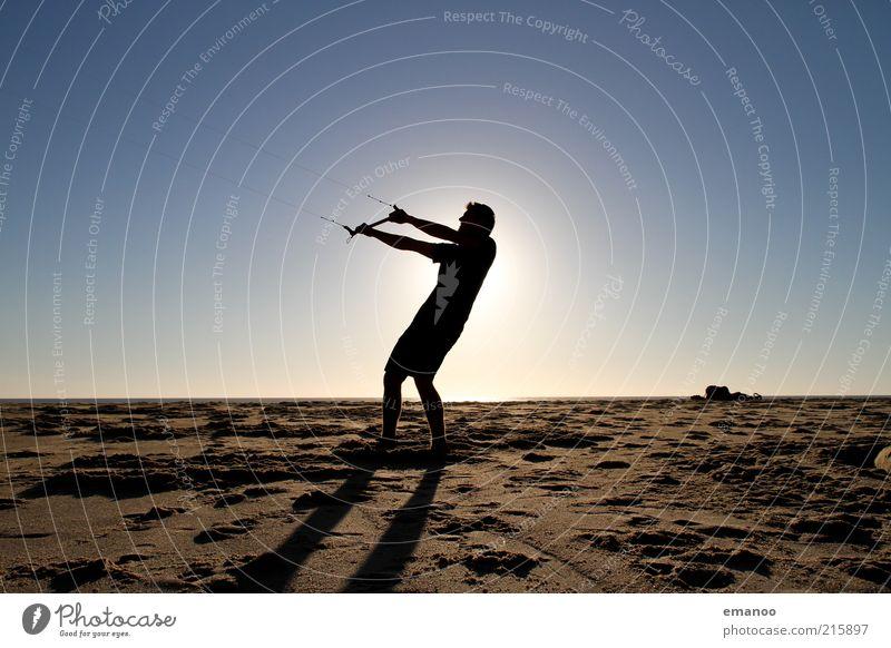 Human being Nature Vacation & Travel Sun Ocean Summer Beach Joy Sports Freedom Coast Sand Body Wind Power Flying