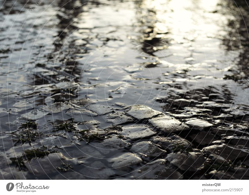 Water Loneliness Gray Lanes & trails Dream Rain Art Wet Esthetic Perspective Ground Under Eternity Smoothness Surrealism Puddle