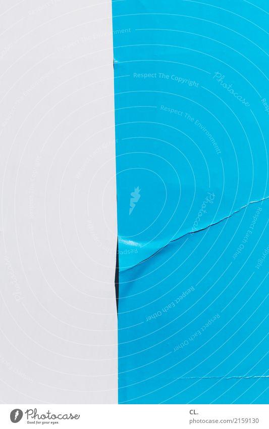 Blue Colour White Design Esthetic Paper Broken Simple Wrinkles Fiasco Poster Precision Accuracy Error Bend Folds